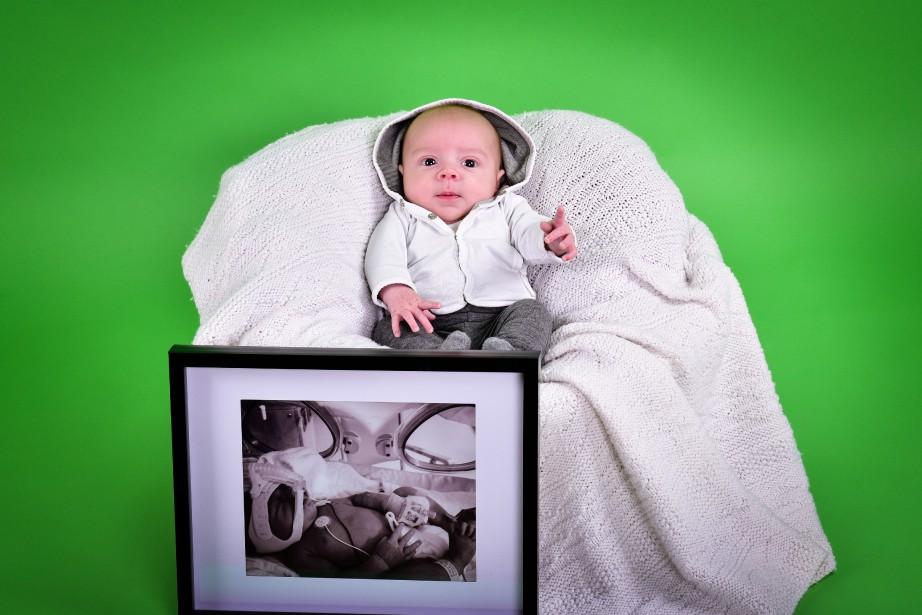 Jackson Boulianne est né à 36 semaines, il est maintenant âgé de 2 mois et demi. ()