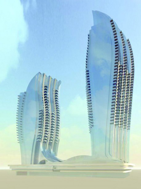 L'architecte Douglas Cardinal a dévoilé le fruit de son travail, jeudi. (Courtoisie)