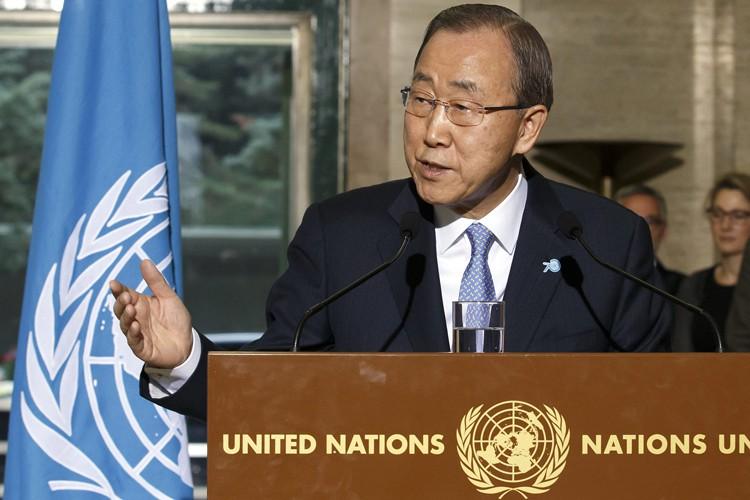 Ban Ki-moon... (PHOTO AP)