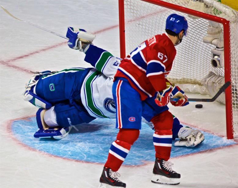 Le capitaine du Canadien a déjoué un gardien pour la première fois en 10 matchs, puisque son but précédent avait été inscrit dans un filet désert, contre les Bruins. (Photo André Pichette, La Presse)