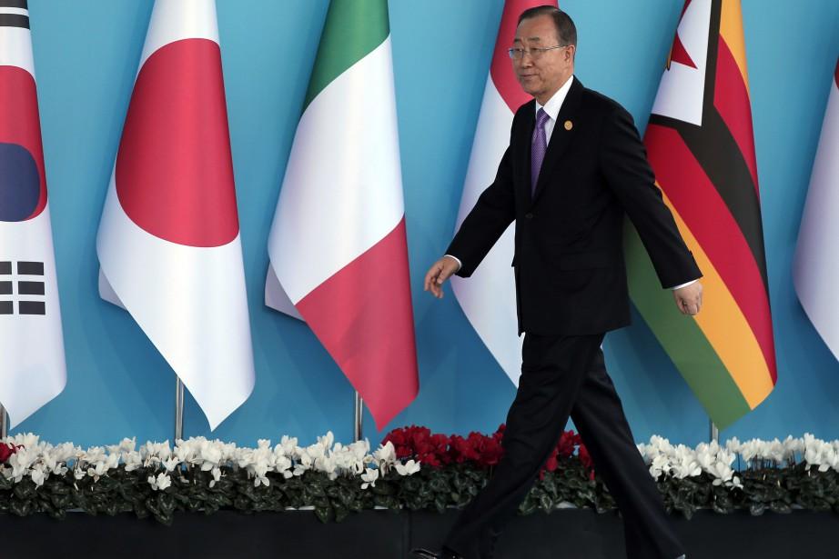 Le secrétaire général de l'ONU, Ban Ki-moon... (Photo Lefteris Pitarakis, AP)