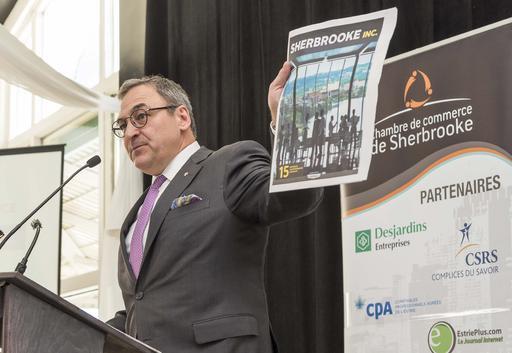 Martin Cauchon a dévoilé l'édition spéciale Sherbrooke Inc. ()