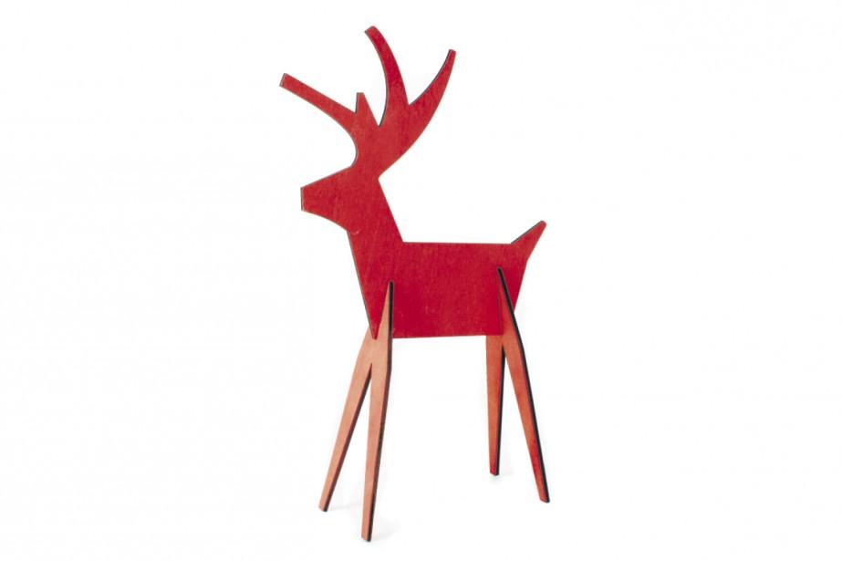 Renne en bois peint en rouge (14 cm), 6,99 $ chez DeSerres (Fournie par DeSerres)