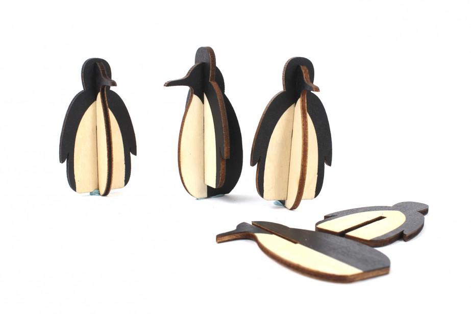 Ensemble de quatre pingouins en bois (6 cm), 16,99 $, chez DeSerres (Fournie par DeSerres)