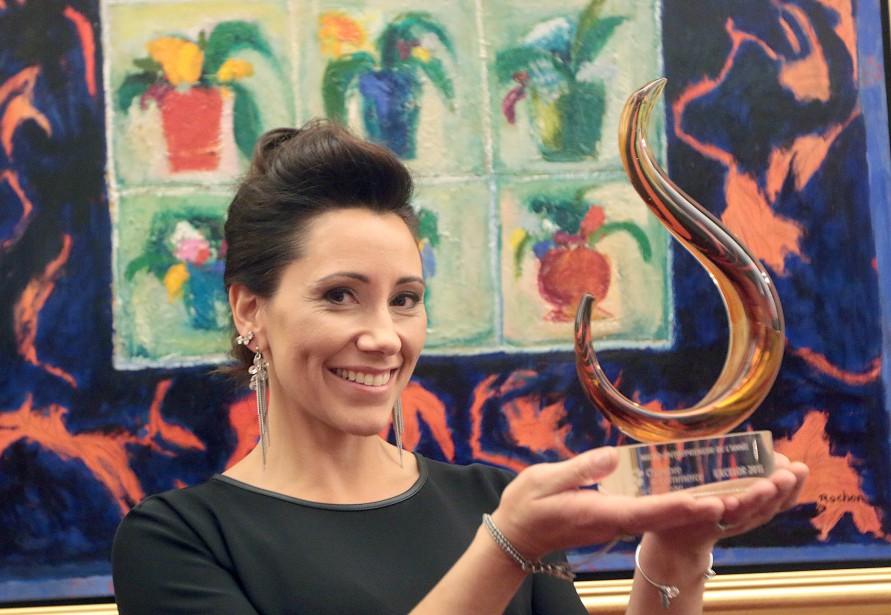 Josée Lalonde, deCréations Estrela, a été nommée Micro-entrepreneure de l'année. (Étienne Ranger, LeDroit)