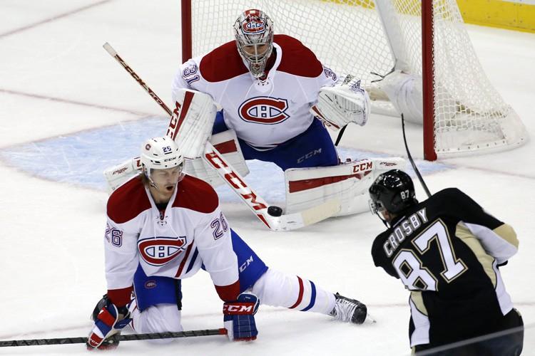 Sidney Crosby, des Penguins de Pittsburgh, n'était pas... (PHOTO AP)