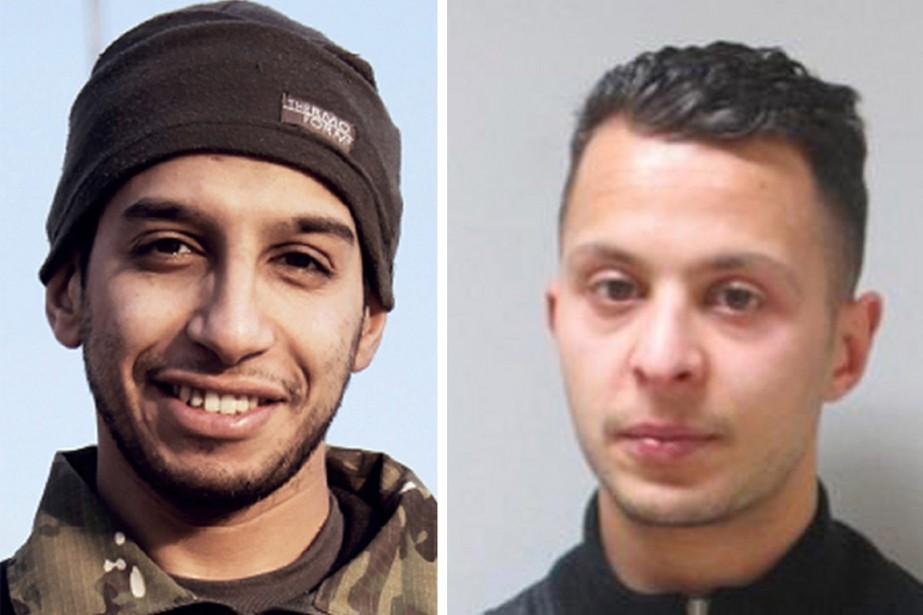 Abdelhamid Abaaoud (à gauche) et Salah Abeslam.... (PHOTOS AFP/AP)