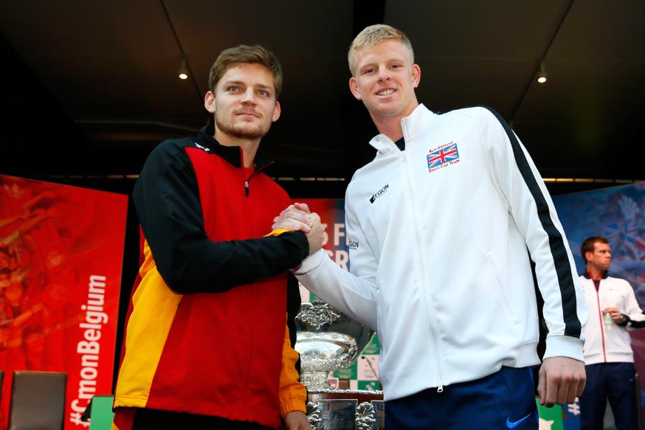 David Goffin, de la Belgique, et Kyle Edmund,... (Photo Jason Cairnduff, Reuters)