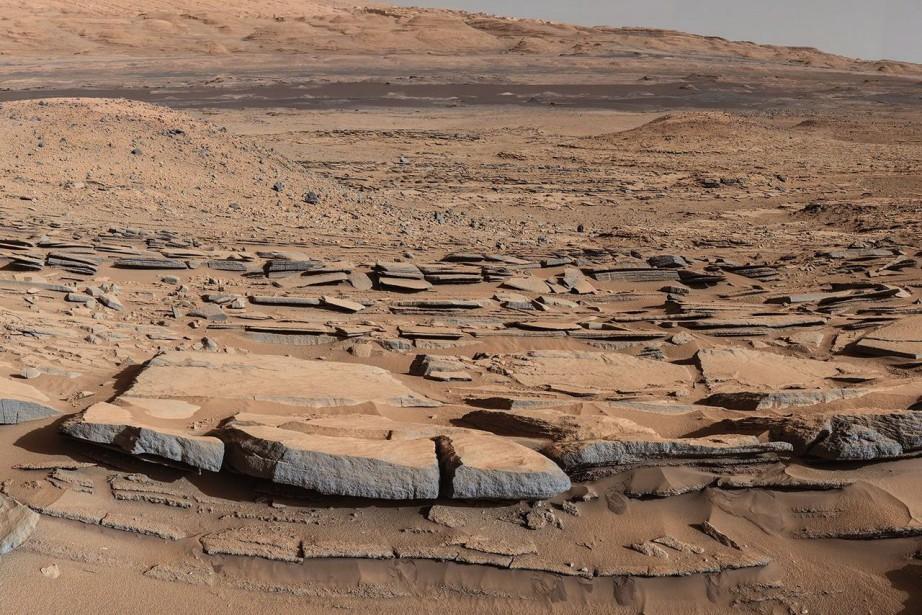 Des lacs auraient abondé sur Mars pendant au... (PHOTO FOURNIE PAR LA NASA)