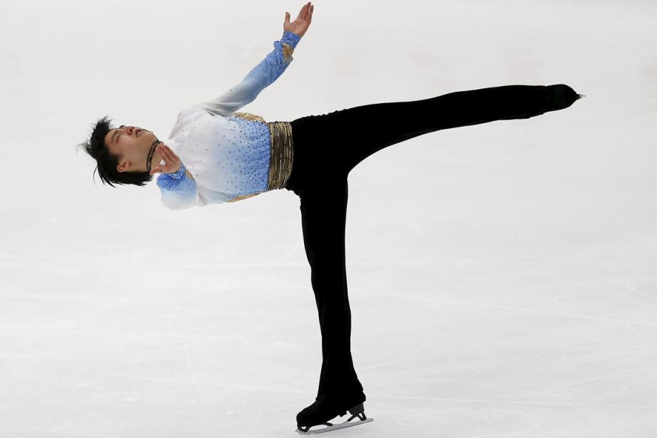 Le Japonais Yuzuru Hanyua récolté 106,33 points lors... (Photo Yuya Shino, Reuters)