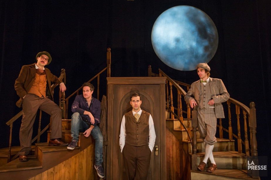 Les trois acteurs -Philippe Robert, François-Simon Poirier etÉtienne... (PHOTO IVANOH DEMERS, LA PRESSE)