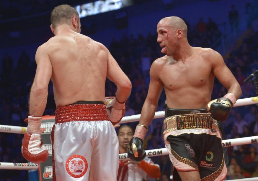 Le combat entre Lucian Bute et James DeGale (Le Soleil, Yan Doublet)
