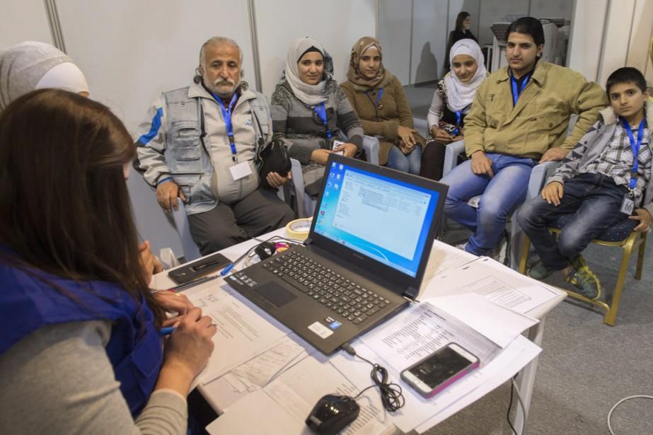 Les réfugiés au centre de Amman représentent seulement... (Photo La Presse Canadienne)