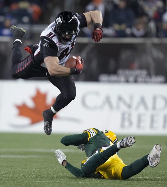 Après avoir remporté seulement deux victoires lors de sa saison inaugurale, le Rouge et Noir a atteint la finale de la Coupe Grey cette année. Mais l'équipe ottavienne n'est pas parvenue à défaire les grands favoris, les Eskimos d'Edmonton. (Nathan Denette, PC)