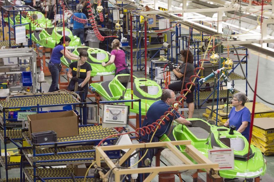 BRP emploie quelque 3000 personnes à Valcourt, où... (PHOTO ARCHIVES LA PRESSE CANADIENNE)