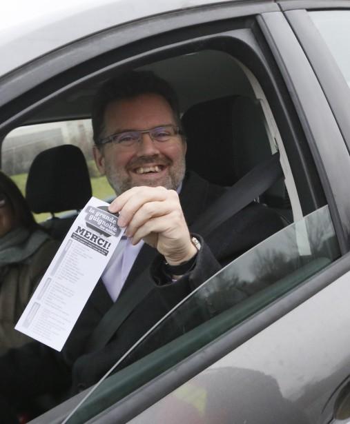 Le maire de Gatineau, Maxime Pedneaud-Jobin, a également fait un don. (Simon Séguin-Bertrand, LeDroit)