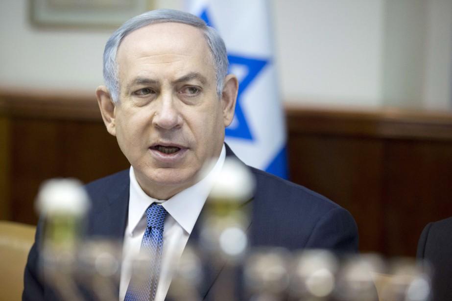 Le premier ministre israélien Benyamin Nétanyahou.... (PHOTO JIM HOLLANDER, AFP)