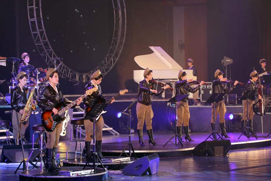 Moranbong est le plus populaire groupe pop de... (PHOTO ARCHIVES AFP)