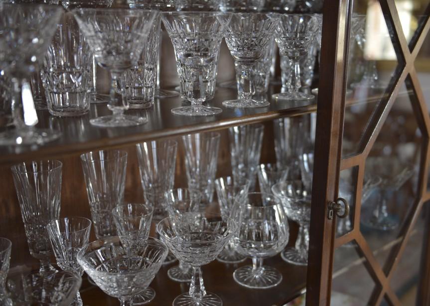 Ces verres proviennent d'une cristallerie de Waterford, en Irlande. (Le Soleil, Yan Doublet)