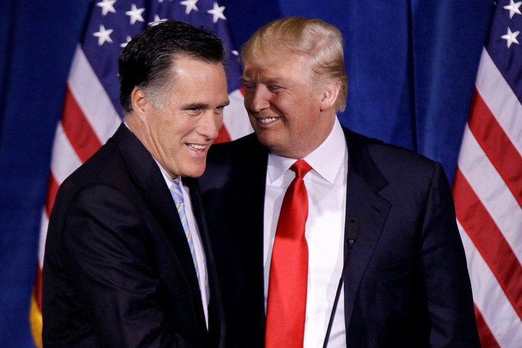 Mitt Romney, qui a obtenu l'appui de Donald... (Archives AP)