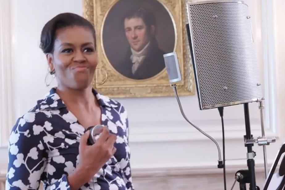 Michelle Obama n'en est pas à sa première... (IMAGE TIRÉE DE LA VIDÉO/YOUTUBE)