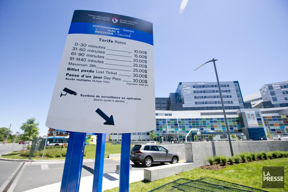 Les tarifs des stationnements du CUSM ont été... (PHOTO DAVID BOILY, archives LA PRESSE)