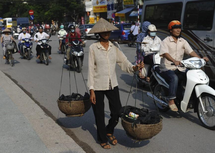 Au Cambodge,les conditions sanitaires restent très précaires, surtout... (PHOTO HOANG DINH NAM, AFP)