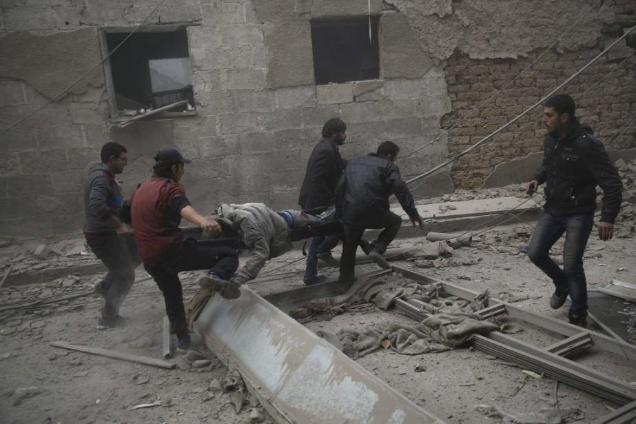 Douma, fief rebelle situé à l'est de Damas,... (PHOTO SAMEER AL-DOUMY, AFP)