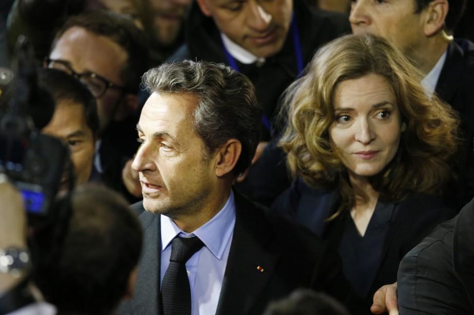 Nathalie Kosciusko-Morizet en compagnie de Nicolas Sarkozy, à... (PHOTO CHARLES PLATIAU, ARCHIVES REUTERS)