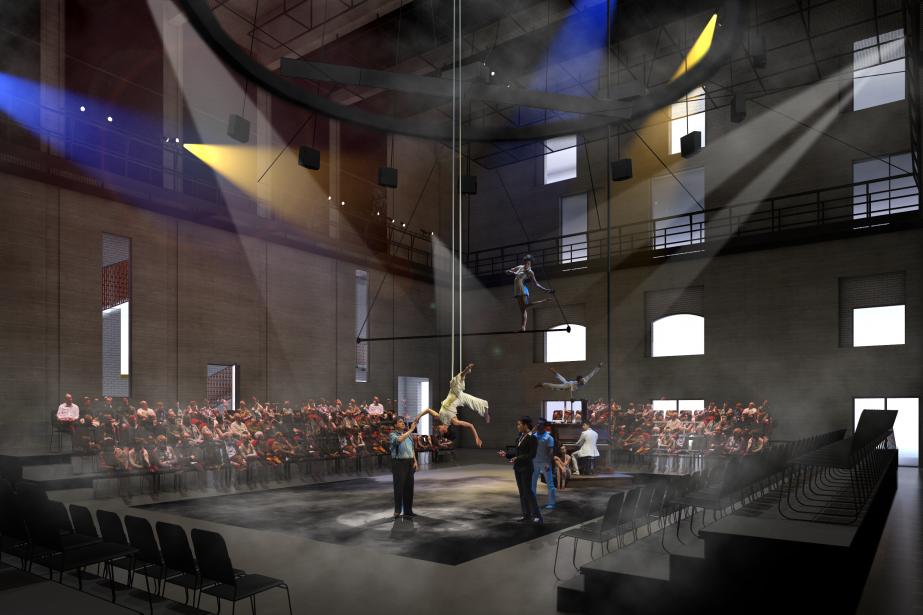 Esquisse de la future salle de création de... (IMAGE FOURNIE PAR LES 7 DOIGTS DE LA MAIN)