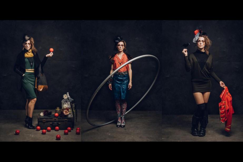 L'artiste de cirque Lysandre Murphy-Gauthier a posé pourle... (PHOTOS CARL THÉRIAULT, FOURNIE PAR BELLE ET REBELLE)