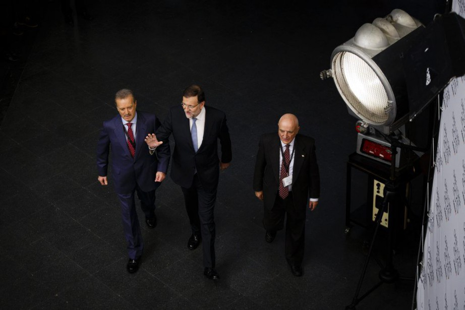 C'est le seul débat auquel M. Rajoy, au... (Photo AP)