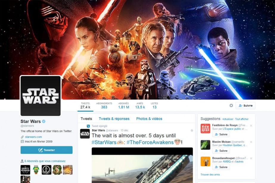 Le compte Twitter de Star Wars.... (CAPTURE D'ÉCRAN)
