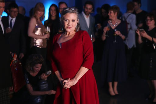 Carrie Fisher reste populaire auprès des fans de la série. (The Associated Press)