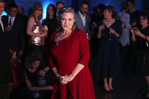 Carrie Fisher reste populaire auprès des fans de la série. (The Associated Press)