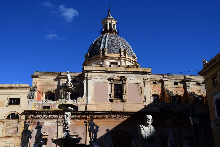 La Piazza Pretoria de Palerme.... (Archives AFP, Gabriel Bouys)