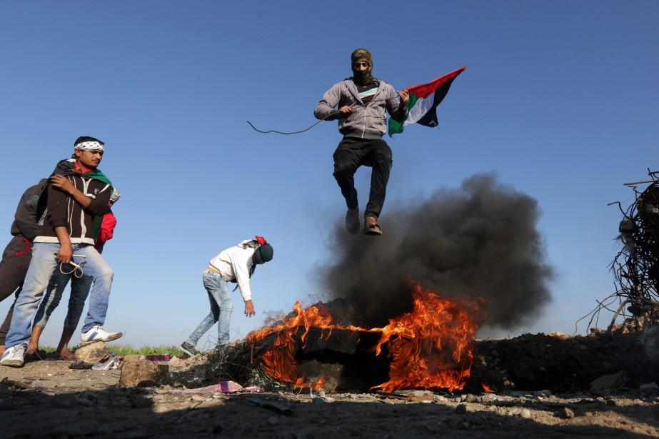 Ces heurts sont intervenus lors du traditionnel vendredi... (PHOTO MAHMUD HAMS, AFP)