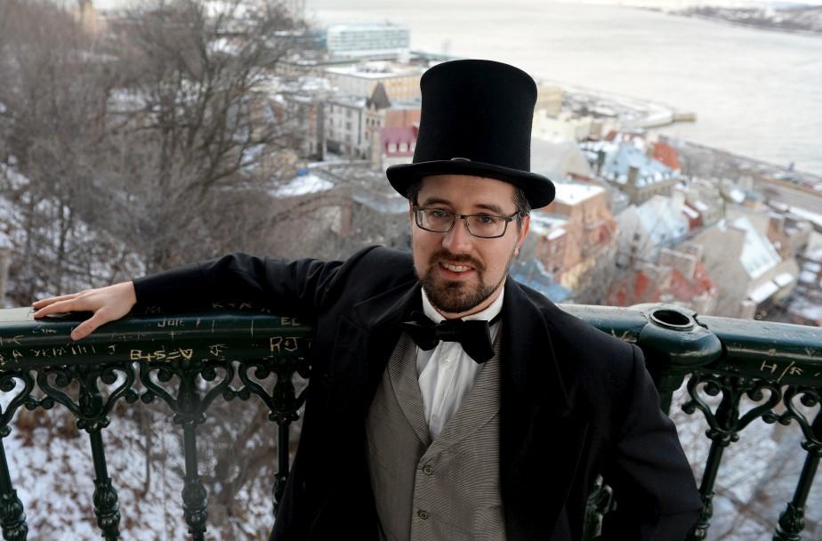 Les organisateurs de la Grande Fête hivernaleinvitent la population à se réapproprier la terrasse Dufferin, qui prend des airs d'antan avec la présence de personnages historiques. (Le Soleil, Erick Labbé)