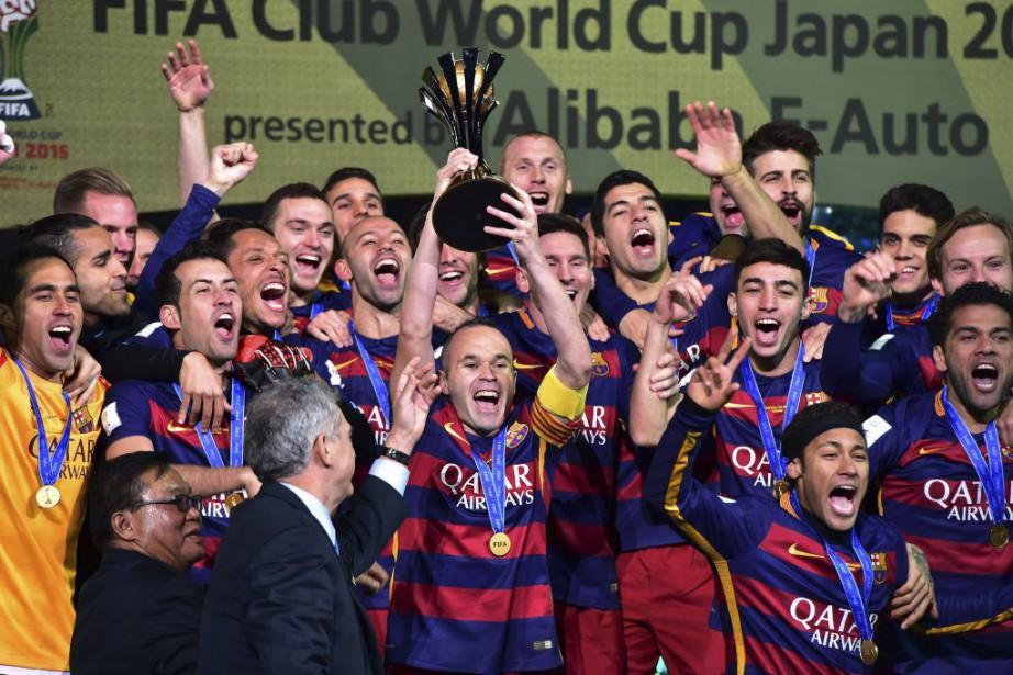 Déjà vainqueur en 2009 et 2011, le Barça,... (PHOTO YOSHIKAZU TSUNO, AFP)