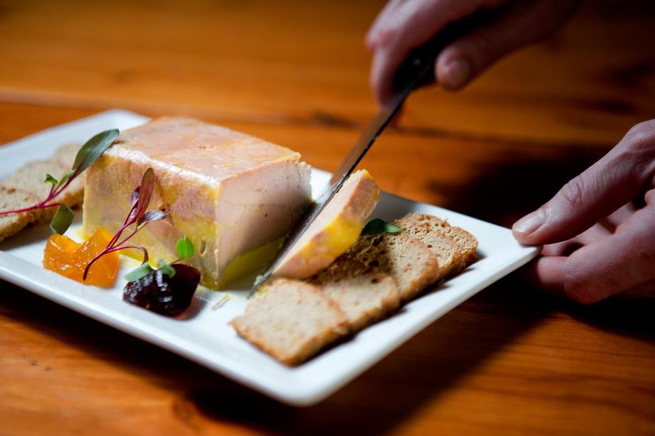 Terrine de foie gras au naturel... (PHOTO MARCO CAMPANOZZI, LA PRESSE)