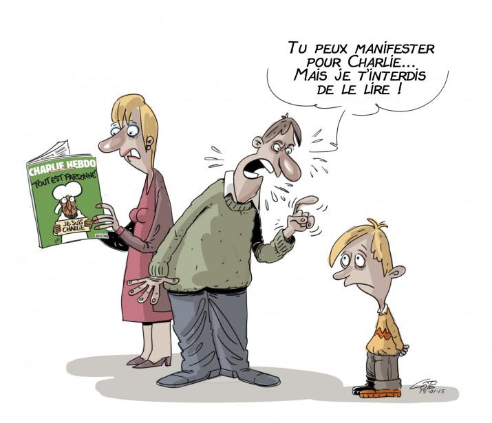 Charlie Hebdo vu par André-Philippe Côté | 22 décembre 2015