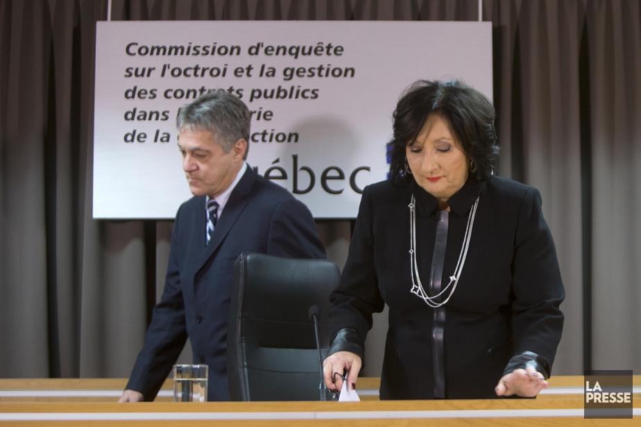 La juge France Charbonneau et le commissaire Renaud... (Photo Archives La Presse)
