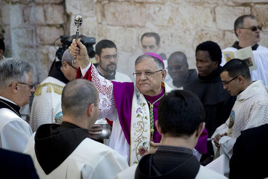Cette année à Bethléem, a annoncé le patriarche... (Photo Majdi Mohammed, AP)
