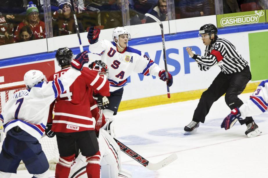 Les États-Unis ont battu le Canada 4-2.... (Photo Roni Rekomaa, Reuters)
