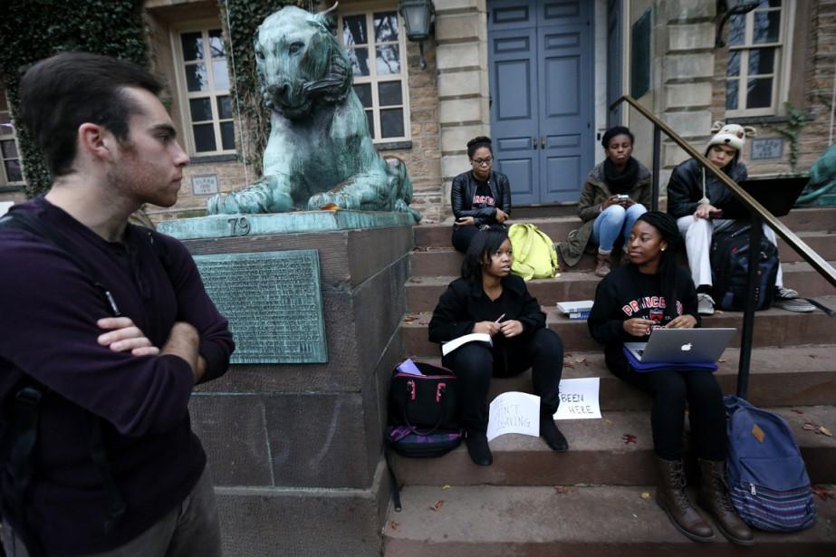Sur les campus de Princeton et de Yale,... (Photo AP)