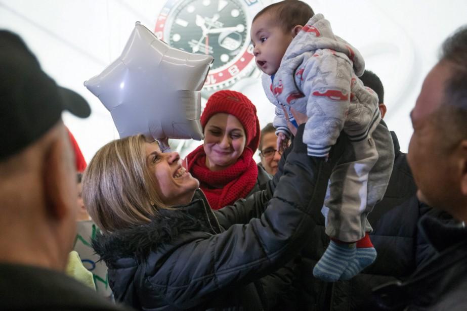 Mohammed Kurdi, son épouse et leurs cinq enfants... (Photo AP)