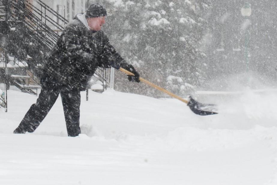 Plus de 20 centimètres de neige sont tombés en Mauricie. (Sylvain Mayer)