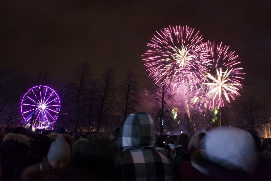 La soirée a culminé par des feux d'artifices. (Le Soleil, Caroline Grégoire)