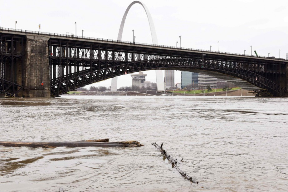 Le fleuve Mississippi à  St. Louis, dans le... (Photo Kate Munsch, Reuters)