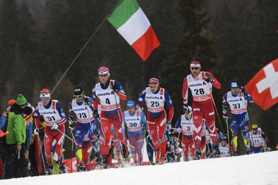 Sjur Roethe, Jean-Marc Gaillard, Martin Johnsrud Sundby, Evgeniy... (FABRICE COFFRINI, AFP)